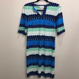 Donna Morgan Mod Retro Style Shift Dress Size 4